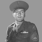 Digitally Restored Vector Portrait of Gunnery Sergeant John Basilone Photographic Print by Stocktrek Images