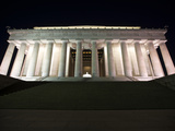 Lincoln Memorial Lit Up at Night, Washinton D.C., USA Photographic Print by Stocktrek Images