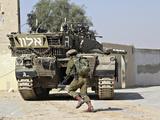 An Israel Defense Force Merkava Mark II Main Battle Tank in Urban Warfare Photographic Print by Stocktrek Images