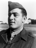 Digitally Restored Vector Portrait of Gunnery Sergeant John Basilone Photographic Print by Stocktrek Images