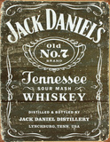 Jack Daniel's - Weathered Logo Tin Sign Placa de lata