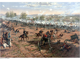 Vintage Civil War Print of the Battle of Gettysburg Photographic Print by Stocktrek Images