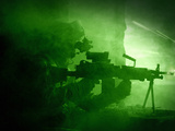Night Vision View of a U.S. Army Ranger in Afghanistan Combat Scene Photographic Print by Stocktrek Images