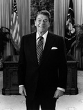 President Ronald Reagan Standing in the Oval Office Photographic Print by Stocktrek Images