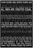 Gettysburg Address (Black) Text Posters