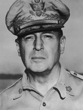 Digitally Restored Vector Portrait of General Douglas MacArthur Photographic Print by Stocktrek Images