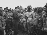 General Dwight D. Eisenhower Talking with Soldiers of the 101st Airborne Division Photographic Print by Stocktrek Images