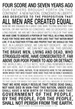 Gettysburg Address Text Posters
