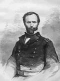 Digitally Restored Vector Portrait of Civil War General William Tecumseh Sherman Photographic Print by Stocktrek Images