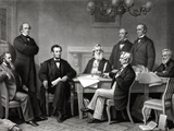 Digitally Restored Picture of President Lincoln Reading Emancipation Proclamation Photographic Print by Stocktrek Images