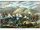 Vintage Military Print Featuring the Battle of Little Bighorn Photographic Print by Stocktrek Images