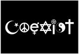 Coexist Black Plakaty