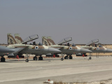 A Line of F-15I Ra'am of the Israeli Air Force at Hatzerim Air Force Base Photographic Print by Stocktrek Images