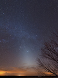 Zodiacal Light And Milky Way Over the Texas Plains Photographic Print by Stocktrek Images