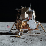 The Apollo 14 Lunar Module On the Moon Photographic Print by Stocktrek Images