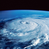 Eye of Hurricane Elena in the Gulf of Mexico Photographic Print by Stocktrek Images