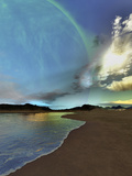 Beautiful Skies Shine Down On This Cosmic Seascape Photographic Print by Stocktrek Images