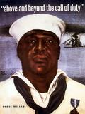 Digitally Restored Vector Image of Doris Dorie Miller, a Cook in the U.S. Navy Photographic Print by Stocktrek Images
