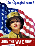 Vintage World War II Poster of a Member of the Women's Army Corps Photographic Print by Stocktrek Images
