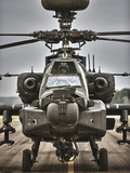High Dynamic Range Image of An AH-64 Apache Helicopter On the Runway Photographic Print by Stocktrek Images