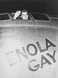 Colonel Paul Tibbets Waving from the Cockpit of the Enola Gay Photographic Print by Stocktrek Images