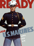 Marine Corps Recruiting Poster from World War II Photographic Print by Stocktrek Images