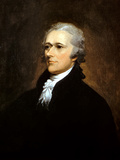Vintage American History Painting of Founding Father Alexander Hamilton Photographic Print by Stocktrek Images