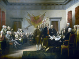 Digitally Restored Vector Painting of Leaders Presenting the Declaration of Independence Photographic Print by Stocktrek Images