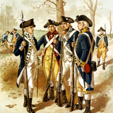 Digitally Restored Vector Painting of the Continental Army During the Revolutionary War Photographic Print by Stocktrek Images