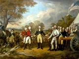 Revolutionary War Painting Showing the Surrender of British General John Burgoyne Photographic Print by Stocktrek Images