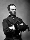Digitally Restored Vector Portrait of General Sherman Photographic Print by Stocktrek Images