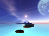 Beautiful Cosmic Seascape On An Alien World Photographic Print by Stocktrek Images
