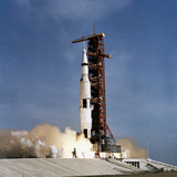 Apollo 11 Space Vehicle Taking Off from Kennedy Space Center Photographic Print by Stocktrek Images