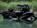 Special Forces Combat Diver Takes a Look at His Compass Photographic Print by Stocktrek Images