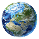3D Rendering of Planet Earth, Centered On Europe Photographic Print by Stocktrek Images