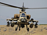 An AH-64A Peten Attack Helicopter of the Israeli Air Force Photographic Print by Stocktrek Images