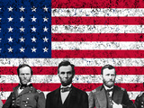 Vector Image Featuring the Top Union Generals of the American Civil War Photographic Print by Stocktrek Images