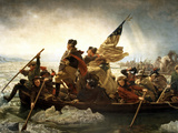 Digitally Restored Vector Painting of George Washington Crossing the Delaware Photographic Print by Stocktrek Images