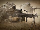 U.S. Army Ranger in Afghanistan Combat Scene Photographic Print by Stocktrek Images