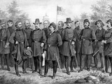 Digitally Restored Print Featuring Famous Union Generals of the Civil War Photographic Print by Stocktrek Images