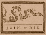 The Join Or Die Print Was a Political Cartoon Created by Benjamin Franklin Photographic Print by Stocktrek Images