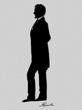 Silhouette of President Abraham Lincoln with Signature Photographic Print by Stocktrek Images