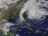 Hurricane Sandy Along the East Coast of the United States Photographic Print by Stocktrek Images
