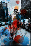 James Dean NYC Stretched Canvas Print by Parvez Taj