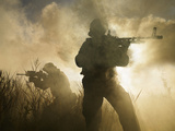 U.S. Navy SEALs During a Combat Scene Photographic Print by Stocktrek Images