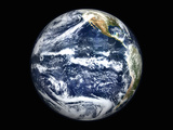 View of Full Earth Centered Over the Pacific Ocean Photographic Print by Stocktrek Images