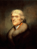 Digitally Restored Vector Painting of Thomas Jefferson Photographic Print by Stocktrek Images