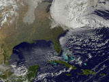 Hurricane Sandy Battering the United States East Coast Photographic Print by Stocktrek Images