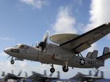 An E-2C Hawkeye Lands Aboard the Aircraft Carrier USS George H.W. Bush Photographic Print by Stocktrek Images