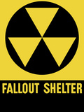 Cold War Era Fallout Shelter Sign Photographic Print by Stocktrek Images